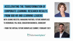 Accelerating the Transformation of Corporate Learning: Research Results from 500 HR and Learning Leaders