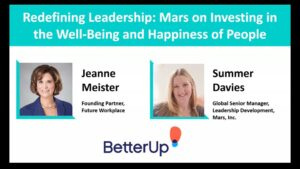 Webinar: Redefining Leadership: Mars on Investing in the Well-Being and Happiness of People