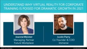 Webinar: Understand Why Virtual Reality For Corporate Training Is Poised For Dramatic Growth in 2021